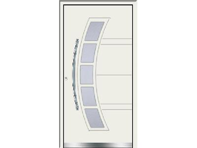 Weiße Türen sind dezent und modern.