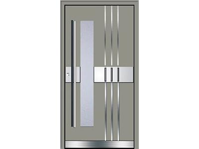 Im Bauzentrum Leipfinger bekommen Sie Türen in vielen Farben, zum Beispiel in grau.