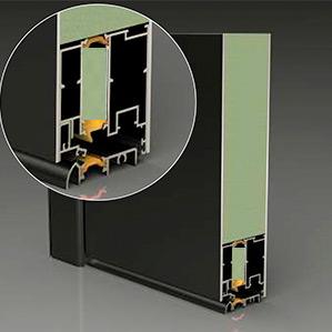 Bei einer beidseitig flügelüberdeckenden Haustür bilden sowohl die Außen-, als auch die Innenansicht der Tür optisch eine Gesamtfläche.