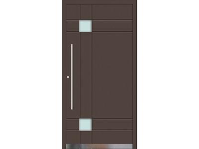 Aluminiumtüren gibt es in vielen Farben, zum Beispiel in braun.