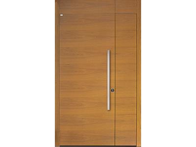 Holzhaustüren können sowohl modern als traditionell aussehen.