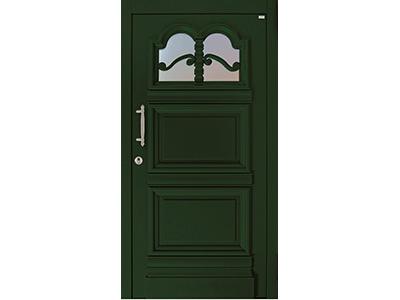Traditionelle Haustüren gibt es in viele verschiedenen Farben.