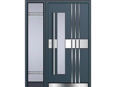 Eine Haustür aus Aluminium ist eine kostengünstige Alternative zu Holz.