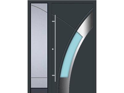 Haustüren Aus Aluminium Bekommen Sie Auch Mit Seitlichem Einsatz.