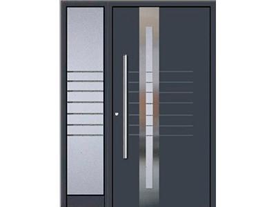 Ein Seitenteil aus Glas passt perfekt zu Ihrer Haustür aus Aluminium.